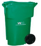 Green Recycling Cart