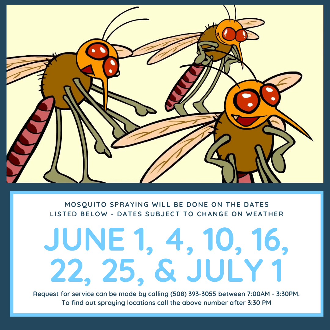 Mosquito Spraying will be done on the dates below